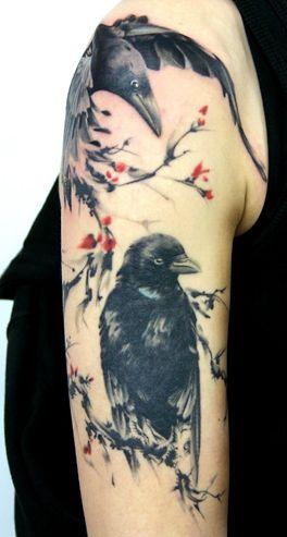 Raven Tattoo Designs7
