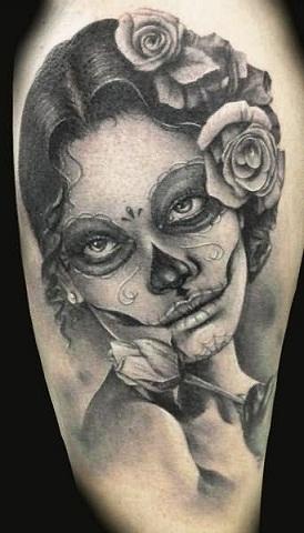 Demon girl tattoo