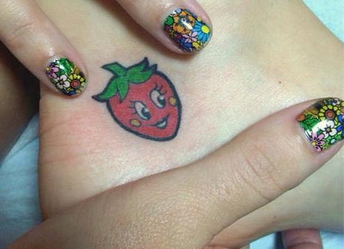 Katy Perry Strawberry Tattoo