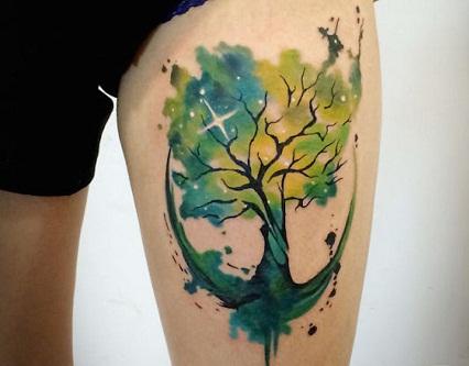 World Tree Cosmos Tattoo design