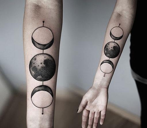 The Moon Cosmic Tattoo