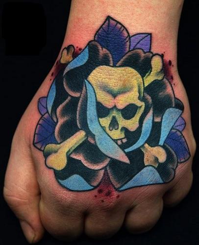 Magnificent New School Tattoo Design