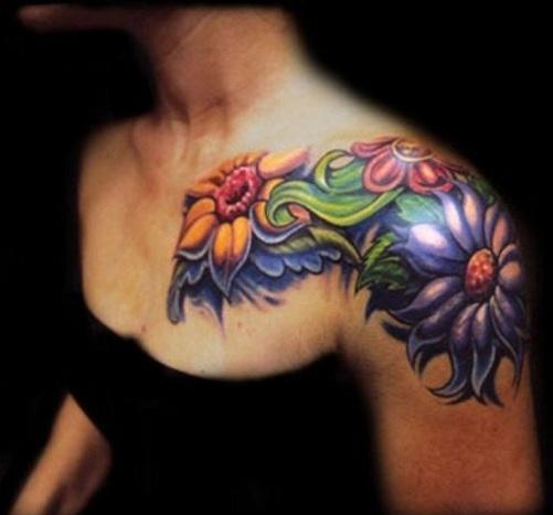 Heart Touching New School Tattoo Design