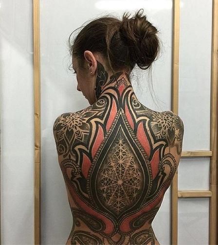 Trash Polka Skull Tattoo Designs for Women