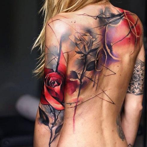 Polka Style Body Tattoo