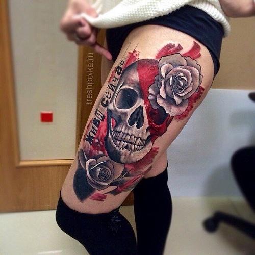 Demon Trash Polka Tattoo designs