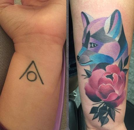 Comic Pigment tattoo designs