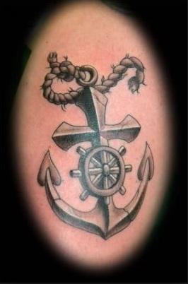 tribal anchor tattoo