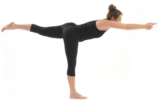 warrior yogic pose