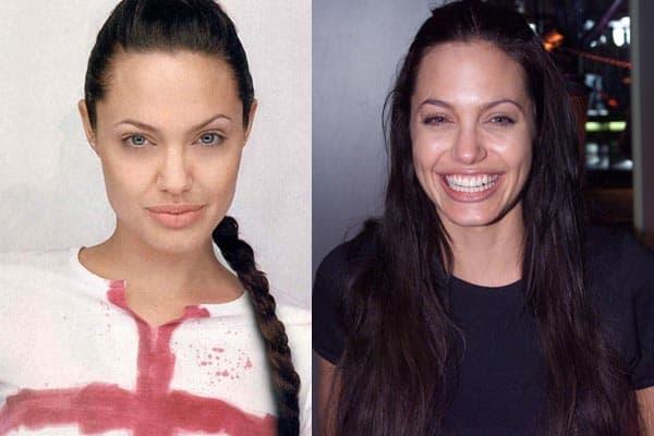 Actress Angelina Jolie without Makeup