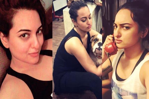 Actress Sonakshi Sinha without Makeup Look