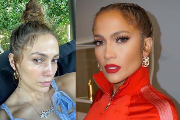 Singer Jennifer Lopez Picture of No Makeup