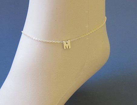 gold-anklets-designs-initial-gold-design-anklet
