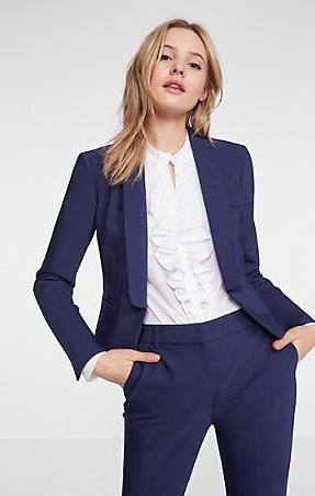 20 inch Collar Cutaway Blazer Jacket