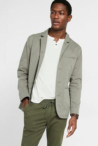 Cotton Military Blazer Jacket