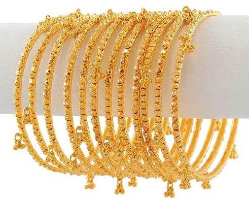 Gold Bridal Bangles in 20 Gram