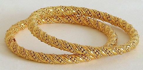 Elegant Gold Bangles in 20 Gram