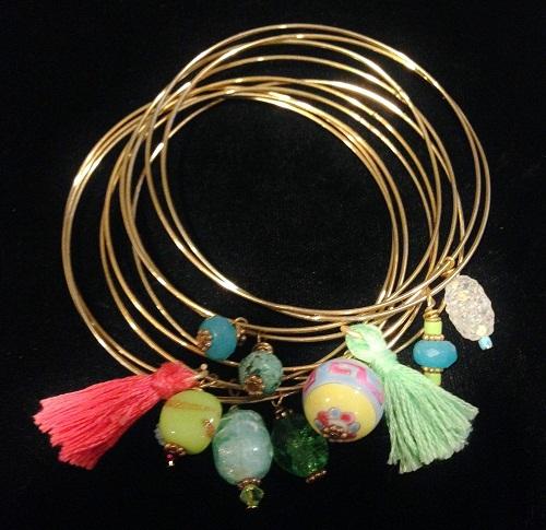 Handmade Charm Bangles