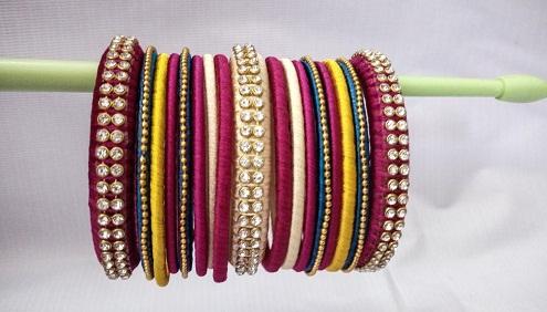 Multi-Coloured Handmade Bangles