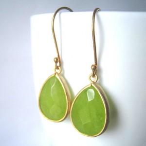 Jade birthstone Earring