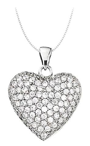 Diamond Birthstone Heart Pendant Necklace