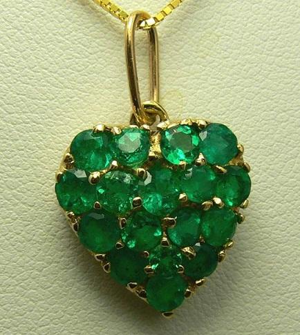 Emerald Birthstone pendant
