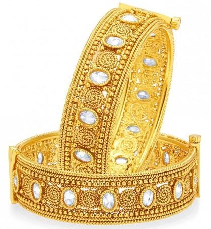 Rajasthani Gold Plated Bangle -15