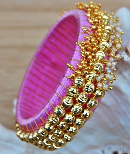 Silk Thread Bangles with Ghunghroo