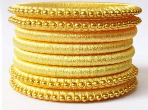 Elegant Silk Thread Bangles