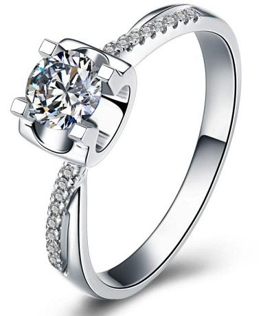 White Gold Diamond Rings for Women