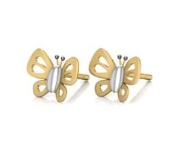 Butterfly Earring Design in 2gm