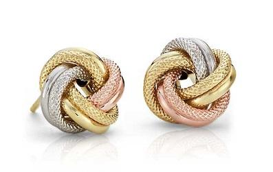 Knot Earring Design in 2gm