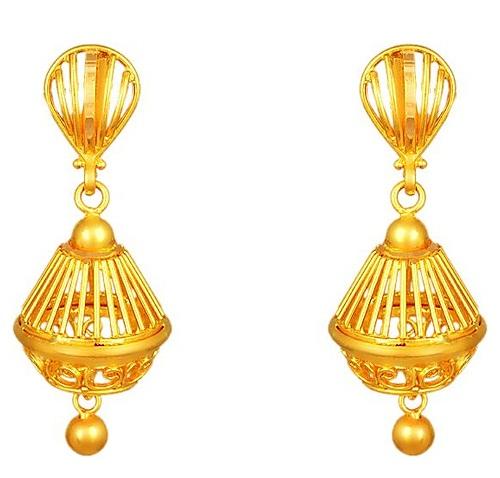 Gold Jhumka Design in 2gm