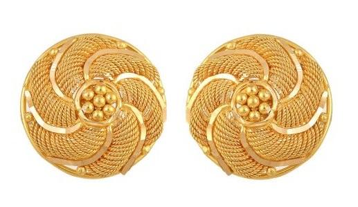 Gold Studs Design in 2gm