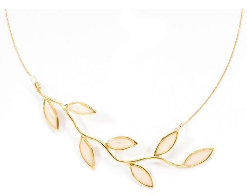 leaflet designed gold plated necklace
