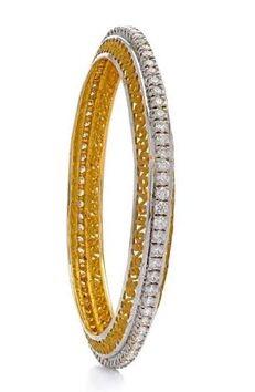 Single Line Diamond Bangle Design
