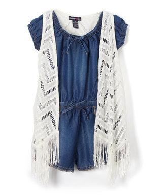 Lace Vest Kids Jumpsuit
