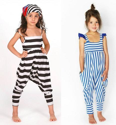 Striped Kids Jumpsuit