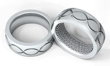 Designed Platinum Ring