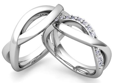Infinity Platinum Couple Ring