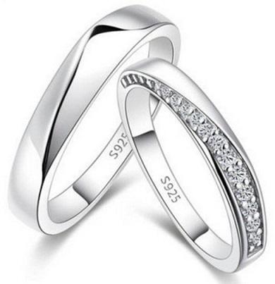 Row Diamonds-Platinum Couple Ring