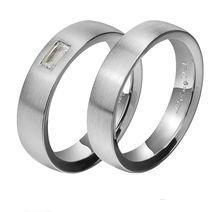 Matte finish- Platinum Couple Ring