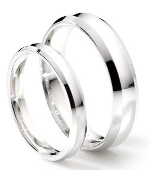 Classic Platinum Couple Ring 10