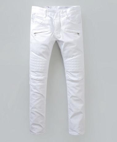 White Zipped Pockets Denim Men Jeans