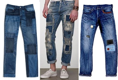 Patch Work Denim Jean for Men