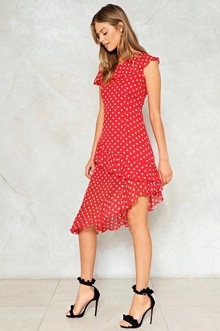 Red Polka Dress - polka dot dress