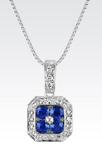 four-round-sapphire-diamond-pendant