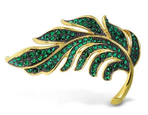 brooch-designs-golden-green-brooch