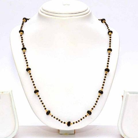 Black Beaded Simple Mangalsutra
