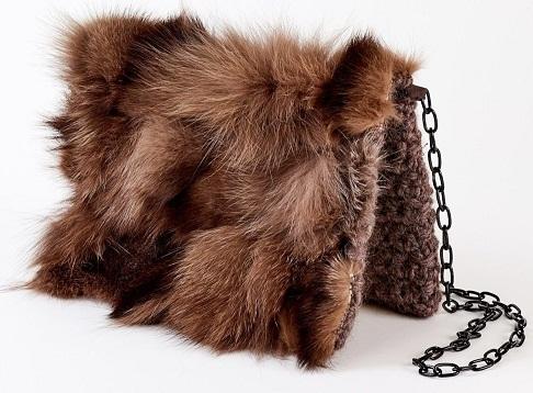Wool and Fur Small Handbag